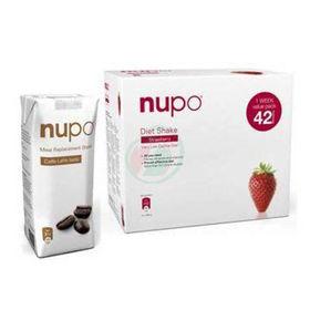 Slika Nupo klasični shake z okusom jagode, 1344 g + GRATIS shujševalni izdelek z okusom bele kave, 330 mL
