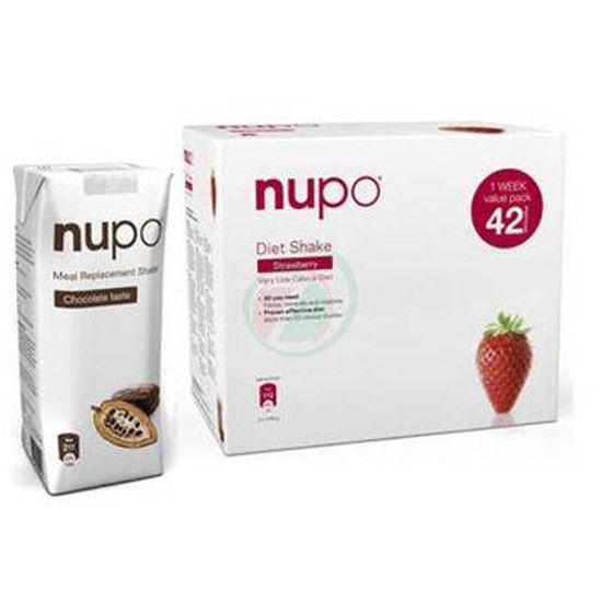 Nupo klasični shake z okusom jagode, 1344 g + GRATIS shujševalni izdelek z okusom čokolade, 330 mL