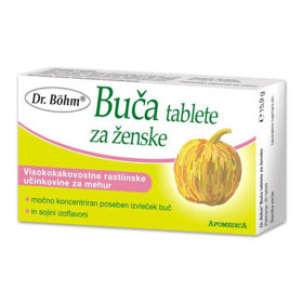 Slika Dr. Böhm tablete z bučo za ženske, 30 tablet