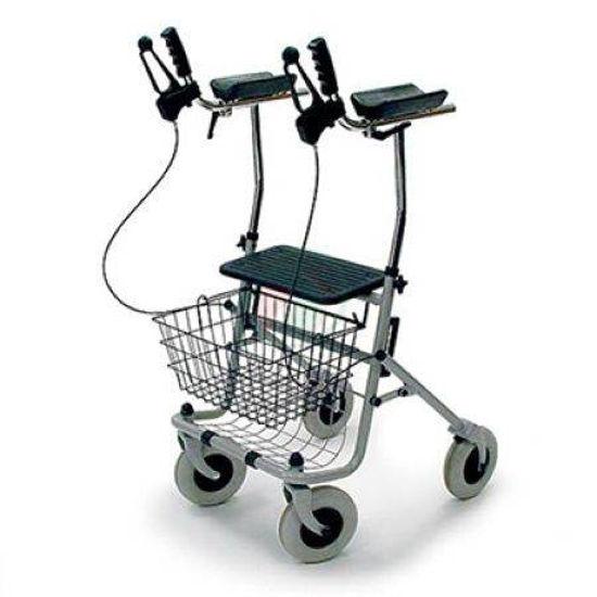 4- kolesni sprehajalnik (rolator) ARTHRITIS z oporo za roke