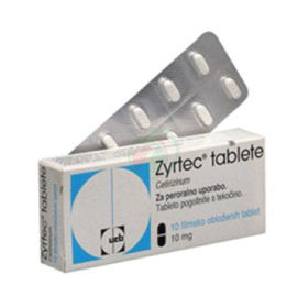 Slika Zyrtec tablete, 10 mg