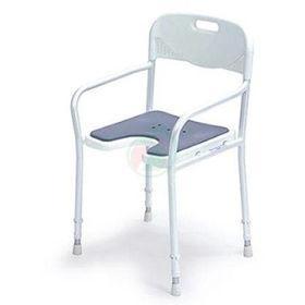 Slika Pripomoček za invalide 9401-A - stol za prhanje z naslonjalom za roke in hrbet