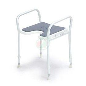 Slika Pripomoček za invalide 9402-A - stol za prhanje z naslonjalom za roke