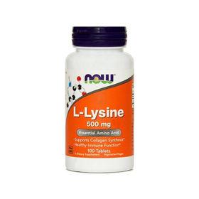 Slika Now L-lizin 500 mg, 100 tablet