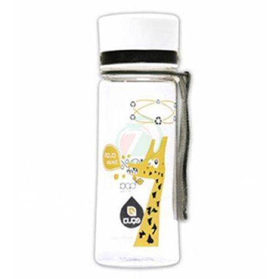 Equa ekološka steklenica z odtenkom/motivom roza žirafa, 0,4 L