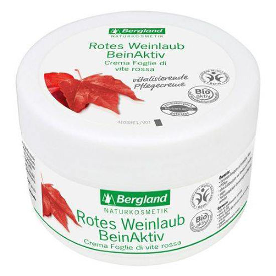Bergland Weinlaub krema z rdečim listjem vinske trte, 200 mL