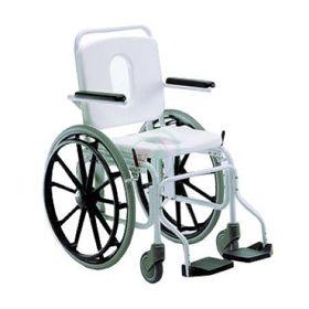 Slika Giraldin toaletni voziček za tuš z malimi kolesi