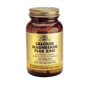 Slika Solgar Kalcij magnezij plus cink, 100 tablet