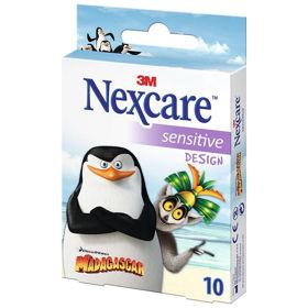 Slika Nexcare Sensitive Pingvini z Madagaskarja obliži, 10 obližev