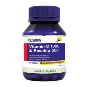 Slika Blooms vitamin C + šipek, 60 tablet