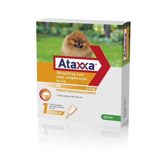 Ataxxa 200 mg/40 mg kožni nanos raztopina za pse do 4 kg, 0,4 mL