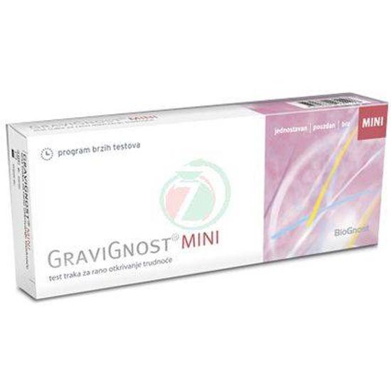 Gravignost Mini testni trak za zgodnje odkrivanje nosečnosti, 1 kom.
