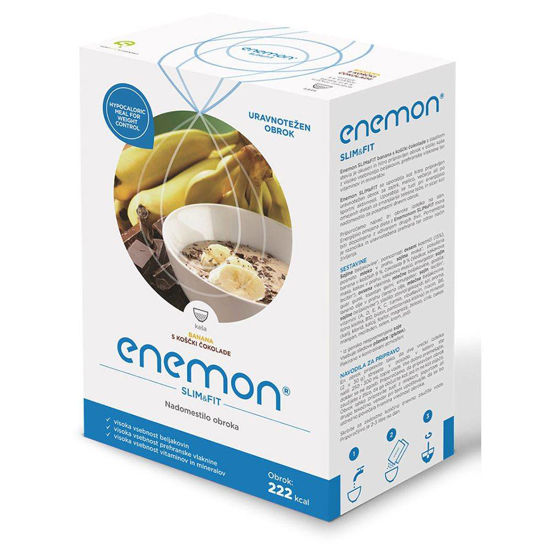 Enemon Slim banana s koščki čokolade, 300 g