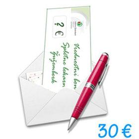 Slika Darilni bon Spletne lekarne Žužemberk v vrednosti 30 €