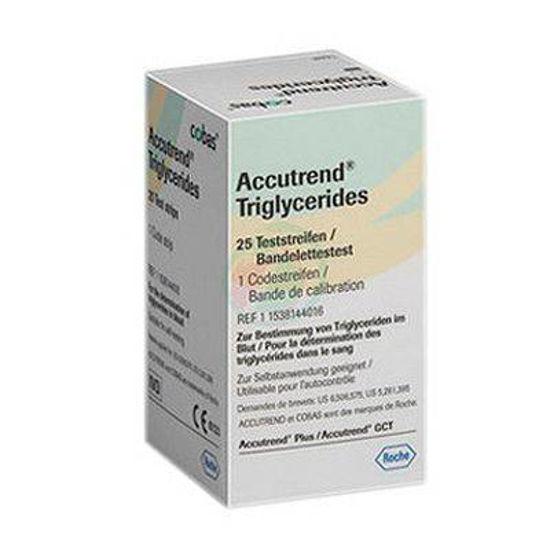 Accutrend testni lističi za merjenje trigliceridov, 25 kom