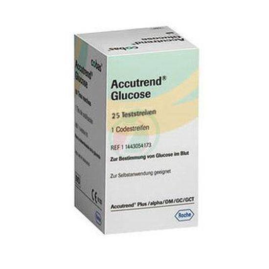 Accutrend testni lističi za merjenje glukoze, 25 kom