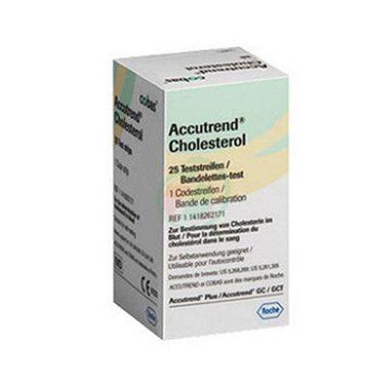 Accutrend testni lističi za merjenje holesterola, 25 kom
