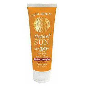 Slika Aubrey Organics Natural Sun krema SPF 30+ tropski vonj, 118 mL