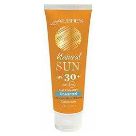 Slika Aubrey Organics Natural Sun krema SPF 30+ brez vonja, 118 mL