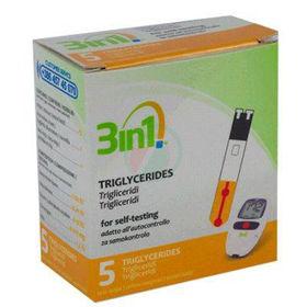 Slika 3in1 testni lističi za trigliceride, 5 lističev