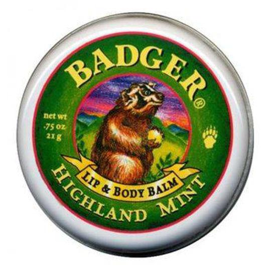Badger mazilo za ustnice in telo Highland Mint, 21 g