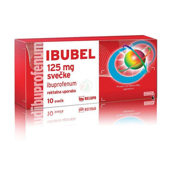 Ibubel 125 mg svečke, 10 svečk