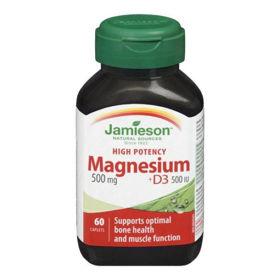 Slika Jamieson Magnezij 500 mg + D3, 60 kaplet