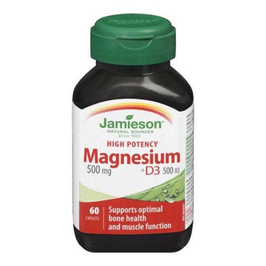 Jamieson Magnezij 500 mg + D3, 60 kaplet