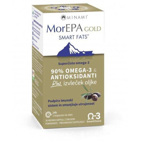 MorEPA GOLD omega maščobe, 30 mehkih kapsul