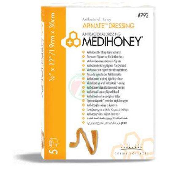 Medihoney apinate dressing obloga 1.9 x 30 cm, 5 oblog