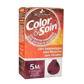 Slika Color & Soin barva za lase 5M svetlo kostanjeva in mahagonij