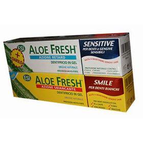Slika Aloe fresh smile zobna pasta in gratis Aloe fresh za občutljive zobe, 2x100 mL