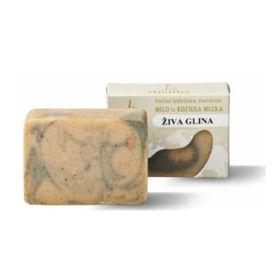 Slika Milina naravno milo iz kozjega mleka z glino, 100 g