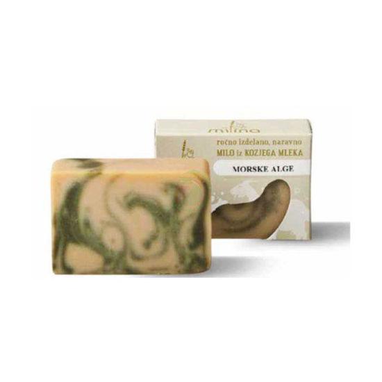 Milina naravno milo iz kozjega mleka z algami, 100 g