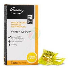 Slika Comvita Manuka Honey pastile z okusom limona med, 12 pastil