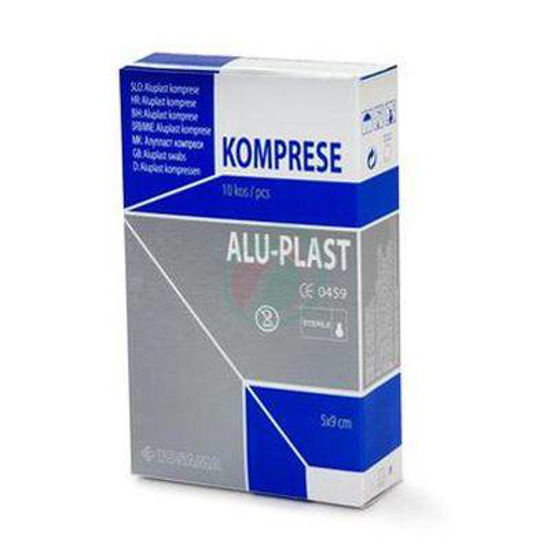 Tosama aluplast extra sterilne komprese 5 x 9 cm, 10 kompres