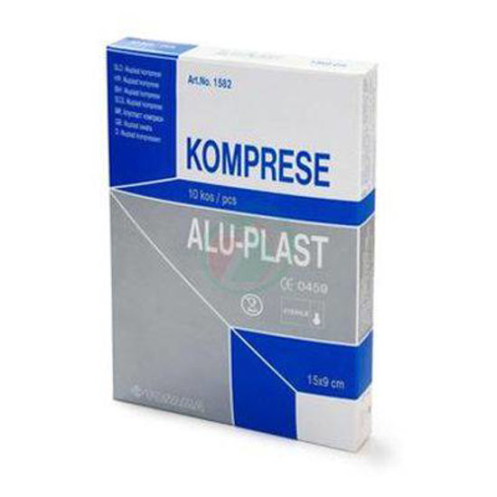 Tosama aluplast extra komprese sterilne 15 x 9 cm, 10 kompres