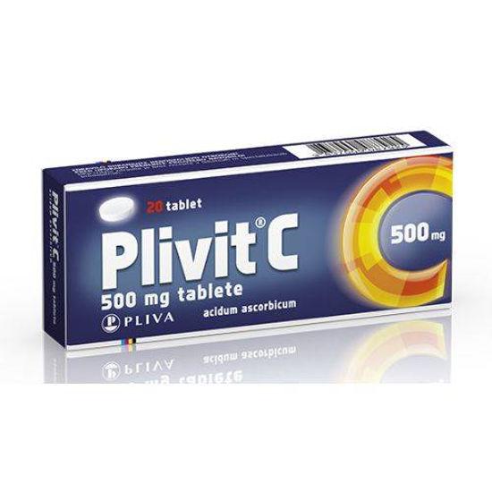 Plivit C 500 mg, 20 tablet