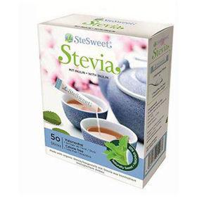 Slika SteSweet stevia v vrečkah, 50 vrečk