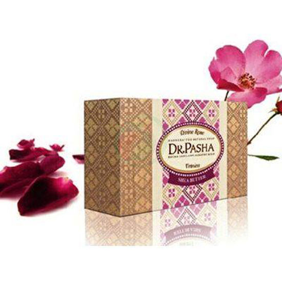 Dr. Pasha naravno milo za suho in občutljivo kožo vrtnica in karitejevo maslo, 100 g