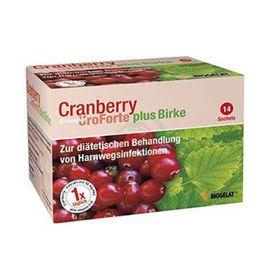 Slika Biogelat Cranberry Uroforte + breza v granulatu, 14x3 g