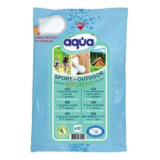 Aqua Šport prednavlažena rokavica za osvežitev, 2 rokavici