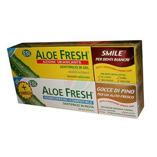 Aloe veraWhitening zobna pasta in gratis zobna pasta z aromo bora, 2x100 mL