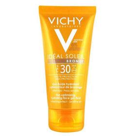Slika Vichy Ideal Soleil Bronz vlažilni gel-fluid s SPF 30, 50 mL