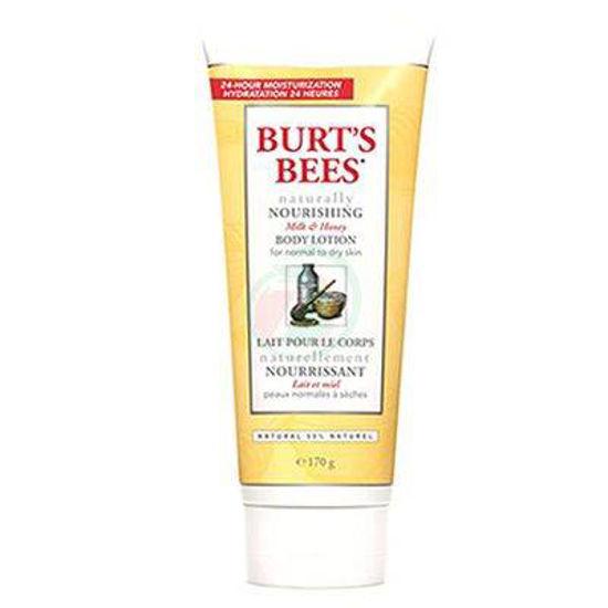 Burt's Bees naravno hranilen losjon za telo z medom in mlekom, 175 mL