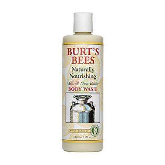 Burt's Bees naravno hranilen losjon za umivanje telesa z mlekom in karitejevim maslom, 350 mL