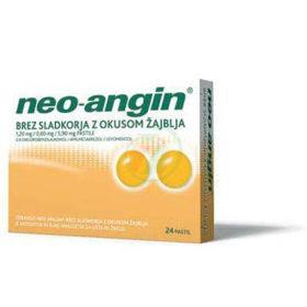 Slika Neo-angin pastile brez sladkorja z okusom žajblja, 24 pastil