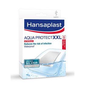 Slika Hansaplast Aqua Protect Silver XXL s srebrom, 5 obližev