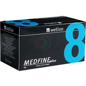 Slika Wellion Medfine plus 31G igla za inzulinska peresa 8 mm, 100 igel