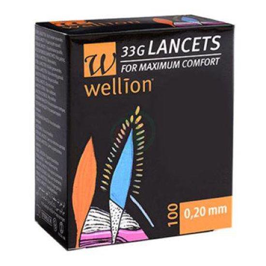 Wellion 33G lancete, 100 lancet
